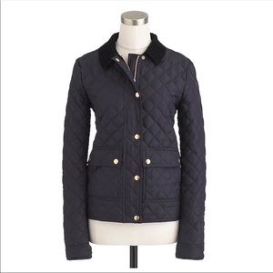 J. Crew Navy Quilted Tack Jacket XS